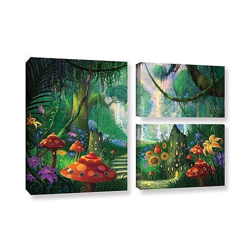 "ArtWall 'Hidden Treasure' 3-Piece Gallery-Wrapped Canvas Flag Set 24"" x 36"" (0str009g2436w)"