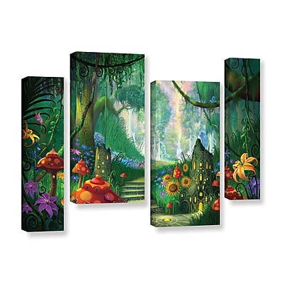 ArtWall 'Hidden Treasure' 4-Piece Gallery-Wrapped Canvas Staggered Set 36