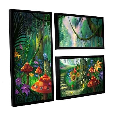 ArtWall 'Hidden Treasure' 3-Piece Floater Framed Canvas Flag Set 24