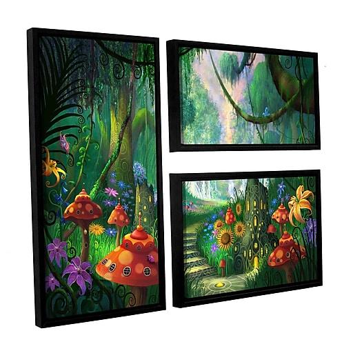 "ArtWall 'Hidden Treasure' 3-Piece Floater Framed Canvas Flag Set 24"" x 36"" (0str009g2436f)"