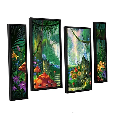 ArtWall 'Hidden Treasure' 4-Piece Canvas Staggered Set 36