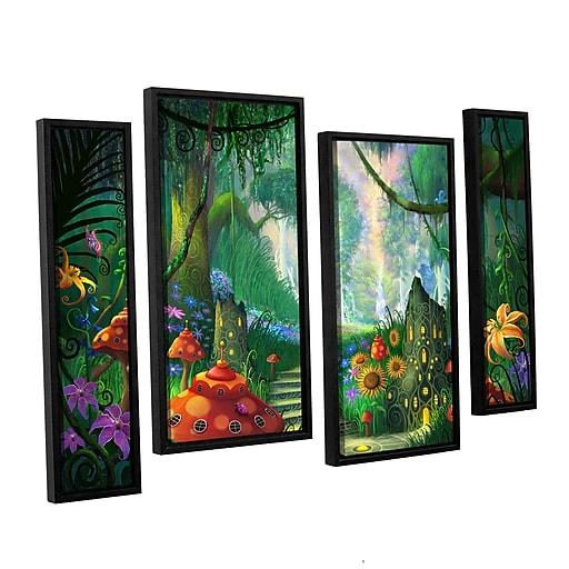 "ArtWall 'Hidden Treasure' 4-Piece Canvas Staggered Set 36"" x 54"" Floater-Framed (0str009i3654f)"
