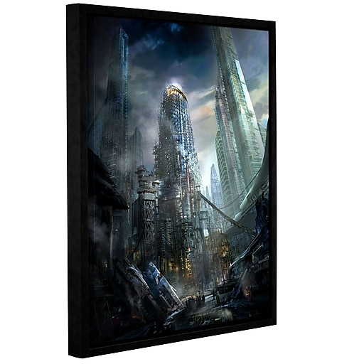 """ArtWall """"Industrialize"""" Gallery-Wrapped Canvas 18"""" x 24"""" Floater-Framed (0str011a1824f)"""