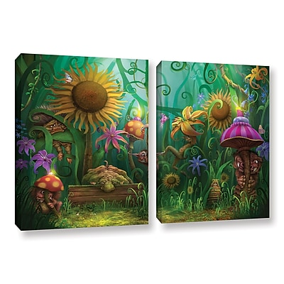 "ArtWall 'Meet The Imaginaries' 2-Piece Gallery-Wrapped Canvas Set 18"" x 28"" (0str012b1828w)"