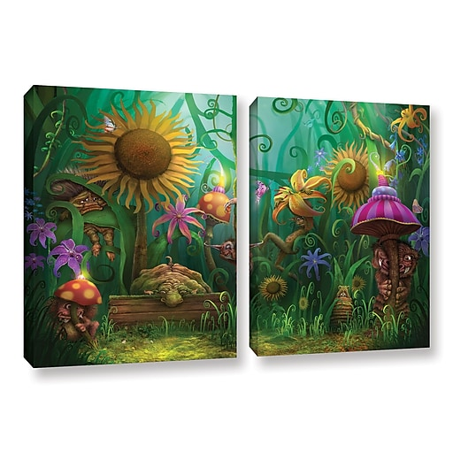 "ArtWall 'Meet The Imaginaries' 2-Piece Gallery-Wrapped Canvas Set 32"" x 48"" (0str012b3248w)"