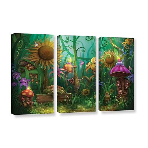"ArtWall ""Meet The Imaginaries"" 3-Piece Gallery-Wrapped Canvas Set 36"" x 54"" (0str012c3654w)"
