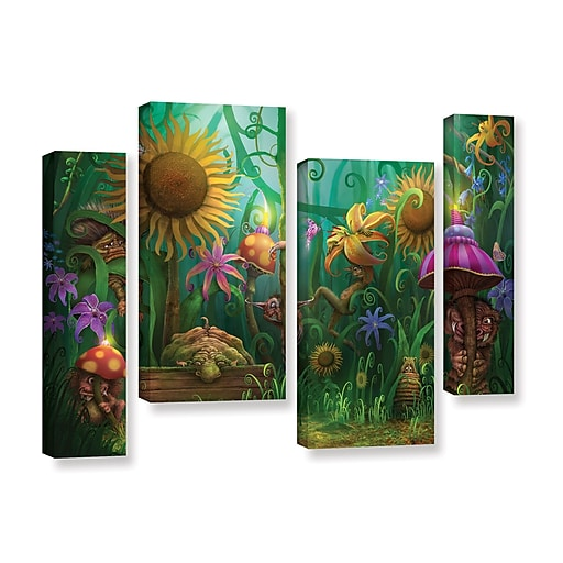 """ArtWall """"Meet The Imaginaries"""" 4-Piece Gallery-Wrapped Canvas Staggered Set 24"""" x 36"""" (0str012i2436w)"""