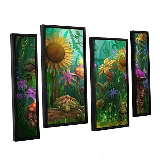 "ArtWall 'Meet The Imaginaries' 4-Piece Floater Framed Canvas Staggered Set 36"" x 54"" (0str012i3654f)"