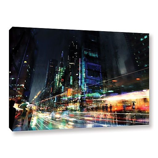 "ArtWall 'Night City 3' Gallery-Wrapped Canvas 12"" x 18"" (0str013a1218w)"