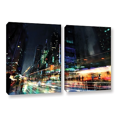 ArtWall 'Night City 3' 2-Piece Gallery-Wrapped Canvas Set 32