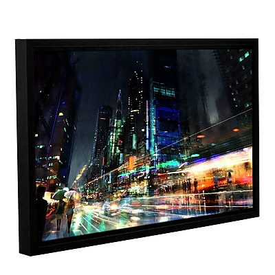 ArtWall 'Night City 3' Gallery-Wrapped Canvas 24