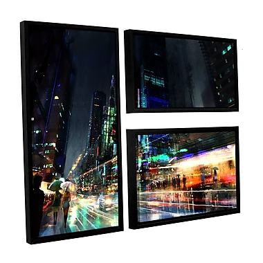 ArtWall 'Night City 3' 3-Piece Canvas Flag Set 24