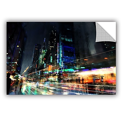 ArtWall 'Night City 3' Art Appeelz Removable Wall Art Graphic 12