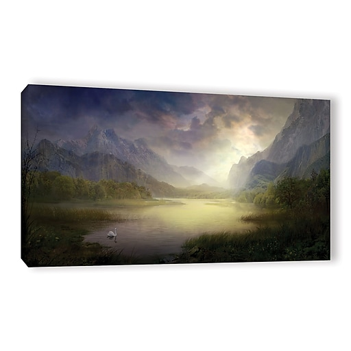 "ArtWall 'Silent Morning' Gallery-Wrapped Canvas 18"" x 36"" (0str015a1836w)"