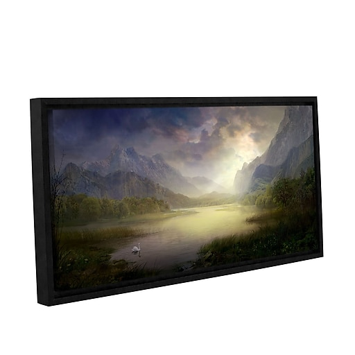 "ArtWall ""Silent Morning"" Gallery-Wrapped Canvas 18"" x 36"" Floater-Framed (0str015a1836f)"