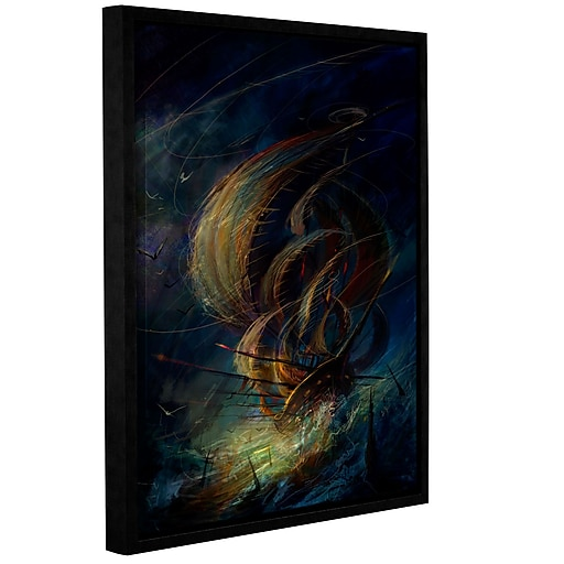 "ArtWall 'The Apparition' Gallery-Wrapped Canvas 24"" x 32"" Floater-Framed (0str016a2432f)"