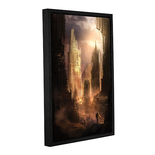 """ArtWall """"The Arrival"""" Gallery-Wrapped Canvas 16"""" x 24"""" Floater-Framed (0str017a1624f)"""
