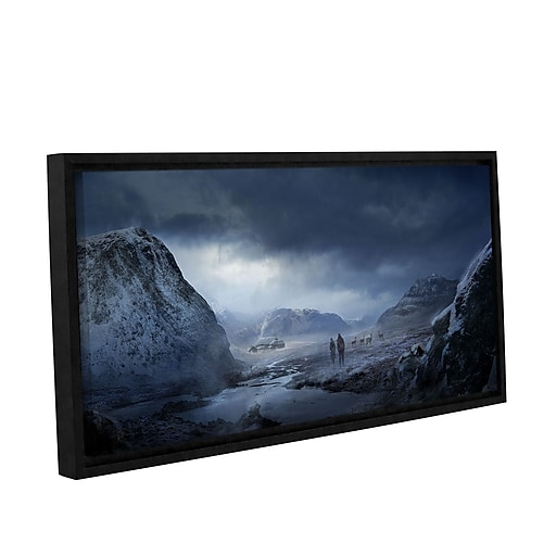 """ArtWall """"Winter"""" Gallery-Wrapped Canvas 12"""" x 36"""" Floater-Framed (0str018a1236f)"""