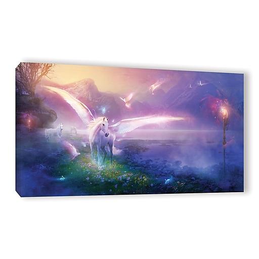 """ArtWall 'Winter Dawn' Gallery-Wrapped Canvas 24"""" x 48"""" (0str019a2448w)"""