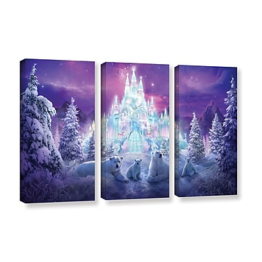 ArtWall 'Winter Wonderland' 3-Piece Gallery-Wrapped Canvas Set 36