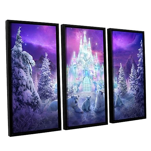 "ArtWall ""Winter Wonderland"" 3-Piece Canvas Set 36"" x 54"" Floater-Framed (0str020c3654f)"