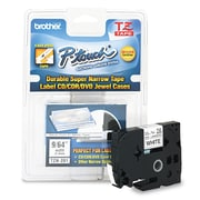 "Brother P-Touch TZ Series Super-Narrow Non-Laminated Labeling Tape, 1/8"" x 26.2 ft., Black, Each (TZN201)"