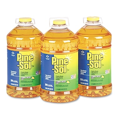 Pine-Sol® All-Purpose Cleaner, Lemon Fresh, 144 oz, 3/Carton (35419)