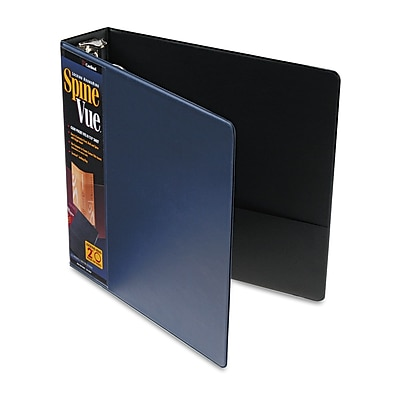Cardinal® SpineVue® Locking Round Ring Binder, Navy, 450-Sheet Capacity, 2