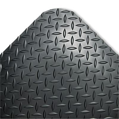 Crown Industrial Industrial 24''x36'' Vinyl Chair Mat for Hard Floor, Rectangular, Black (CD0023DB)