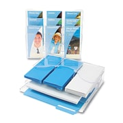 """deflecto® Three-Tier Document Organizer with Dividers, 13 3/8"""" x 3 1/2"""" x 11 1/2"""", Clear, Each (47631)"""