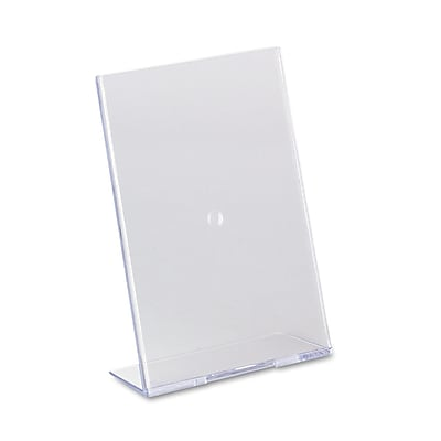 """""deflecto Slanted Desktop Sign Holder, Plastic, 5"""""""" x 7"""""""", Each (590301)"""""" DEF590301"