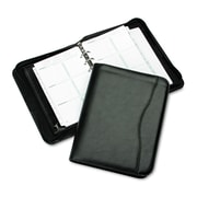 Day-Timer® Avalon Simulated Leather Starter Set, Zipper Closure, 5 1/2 x 8 1/2, Leatherlike Vinyl, Black (D82631E)