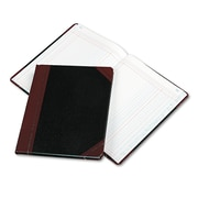 "Boorum & Pease Extra-Durable Bound Book, Columnar Accounting, 8.2"" x 10.4"", Black/Red (21-150-2)"