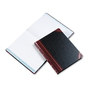 "Boorum & Pease® Extra-Durable Bound Book, Quadrille Accounting, 8.2"" x 10.2"", Black/Red (21-300-Q)"