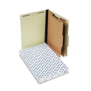 Pendaflex® Four-, Six-, and Eight-Section Pressboard Classification Folders, Top Tab, Light Green, 10/Box (2257G)