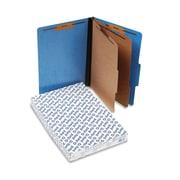 Pendaflex Six-Section PressGuard Colored Classification Folders, Top Tab, Light Blue, 10/Box (2257LB)