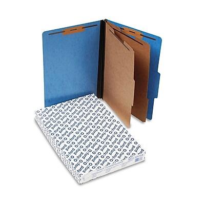 Pendaflex Pressguard Classification Folders, Legal, 2 Dividers, Light Blue, 10/Box