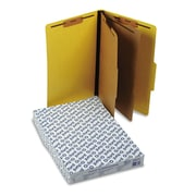 Pendaflex Pressguard Classification Folders, Legal, 2 Dividers/6 Section, Yellow, 10/Box