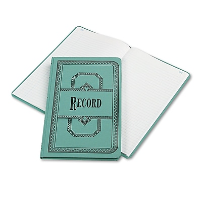 Boorum & Pease® Record and Account Book with Blue Cover, Record and Account, 7.2