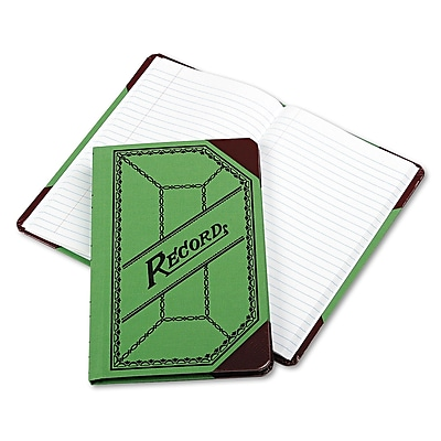 Boorum & Pease® Miniature Account Book with Green and Red Cover, Account, 6.1