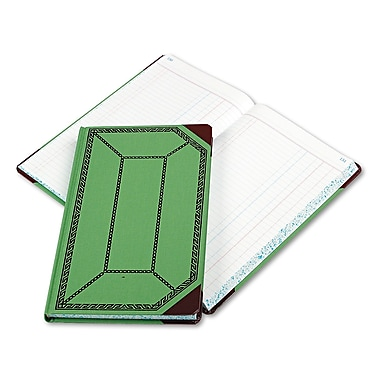 Boorum & Pease Journal with Green and Red Cover, Journal, 7.7