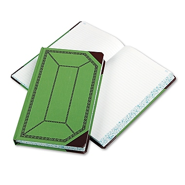 Boorum & Pease Record and Account Book with Green and Red Cover, Record and Account, 7.7