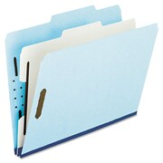 Pendaflex® Four- and Six-Section Classification Folders, Top Tab, Blue, 10/Box (920025RCP2)