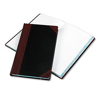 Boorum & Pease® Record and Account Book with Black and Red Cover, Record and Account, 8.75
