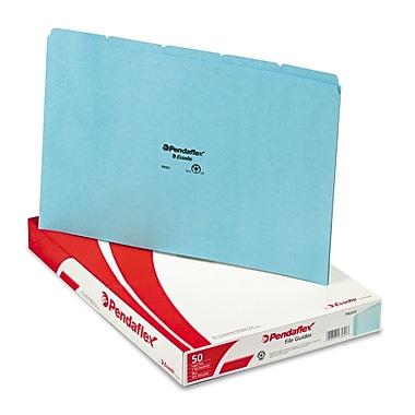 Pendaflex® Blank Top Tab File guides Legal, Blue, 50/Box (PN305)