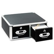 "Vaultz® Two Drawer Locking Index Card Cabinet, 5"" x 8"", 3000-Capacity, Black (VZ01397)"