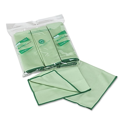 WypAll* Microfiber Cloths with Microban® Protection, Dry Wipes, Green, 6/Roll, 24/Carton (KCC 83630)