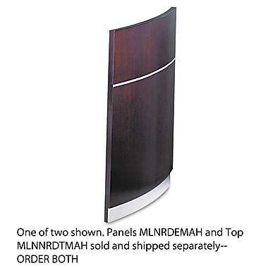 Mayline®, Napoli Series Wood Veneer Reception Desk Base, Mahogany, AA-Grade Select Walnut Veneer (NRDEMAH)