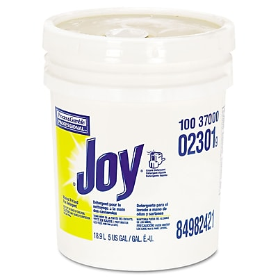 Joy® Dishwashing Liquid, 5 gal, Lemon, 1/Carton (PGC 02301)