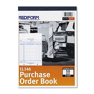 Purchase Order Book, 2 Parts, Carbonless, 8 1/2